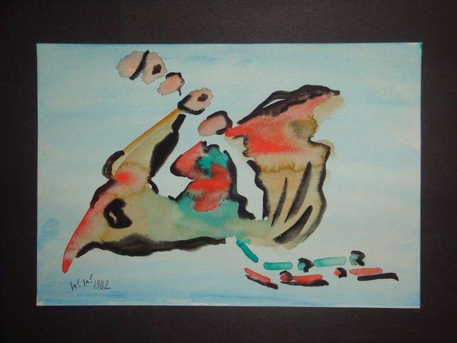 Aquarellmalerei, Klecksen, Frei, Erlangen, Pinseln, An der abstraktion