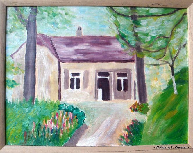 Ölmalerei, Erlangen, Frühling, Mittelfranken, Geburtshaus, Von w