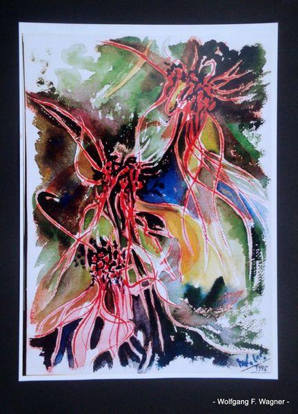 Aquarellmalerei, Orchidee, Luftig, Farben, Seehausen, Locker