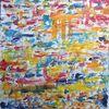 Abstrakt, Bunt, Patchwork, Malerei
