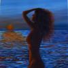 See, Sommer, Akt, Acrylmalerei