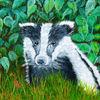 Waldtier, Acrylmalerei, Malerei, Tiere
