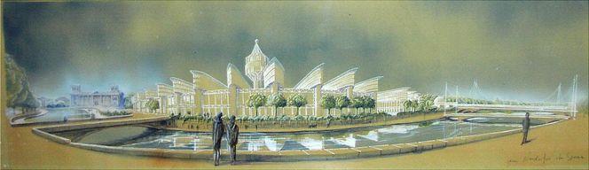 Form follows function, Visionsarchitektur, Bundeskanzleramt berlin, Architektur, Bauhaus, Wettbewerb