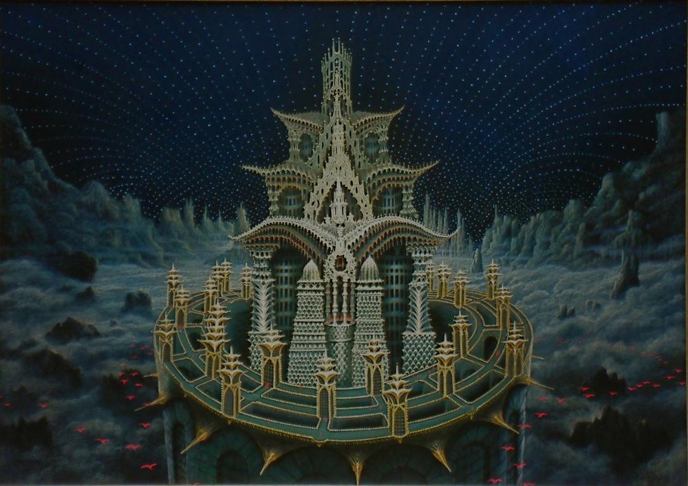 Schlo berwolk fantastische kunst fantastic art art for Architecture fantastique