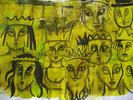 Krone, Gesicht, Menschen, Grün