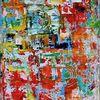 Bunt, Blau, Skizze, Gemälde