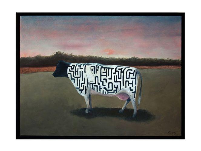 Rind, Kuh, Labyrinth, Irrgarten, Malerei