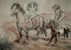 Akt freude pferd, Freude, Pferde, Akt