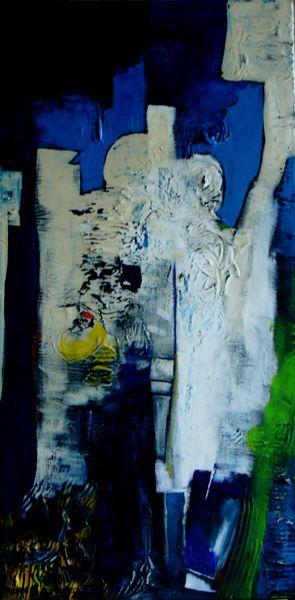 Blau hochformat, Malerei