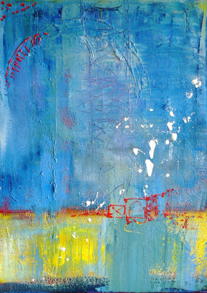 Malerei, Abstrakt, Meer