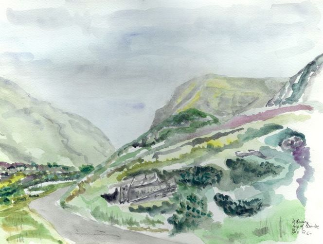 Killarney, Lücke, Dunloe, Irland, Aquarell