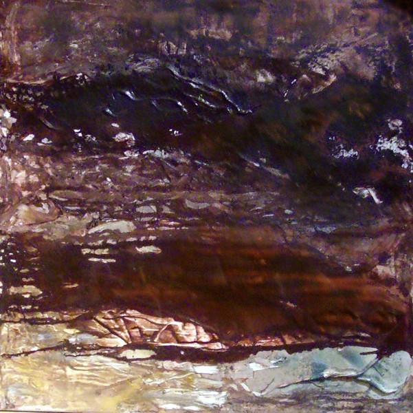 Braun, Martina scholl, Strukturpaste, Pigmente, Abstrakt, Malerei