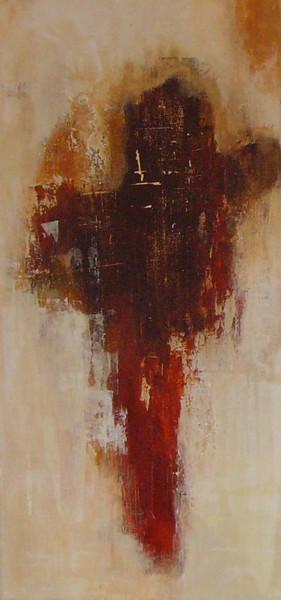 Beige, Terrakotta, Informel, Abstrakt, Spachteltechnik, Malerei