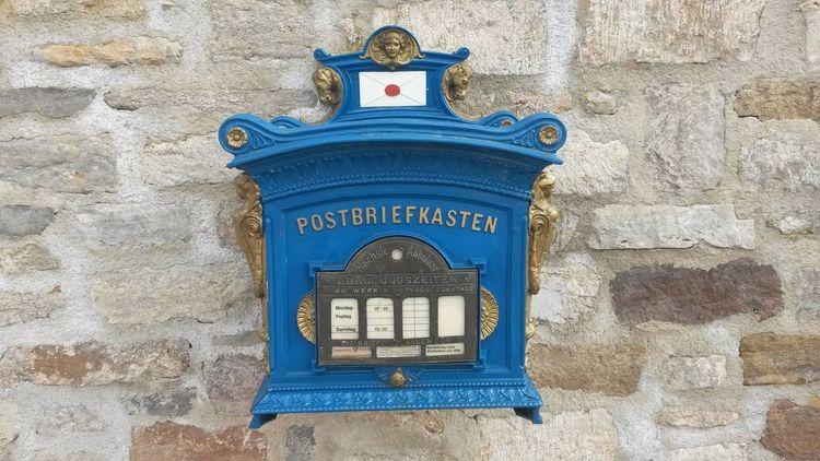 Blau, Brief, Briefkasten, Fotografie