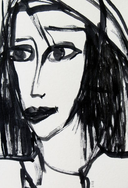 Ausdruck, Gesicht, Blick, Malerei