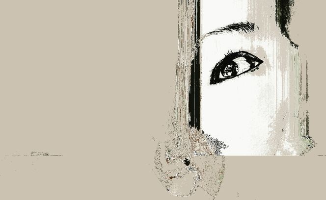 Scherbe, Augen, Gesicht, Digitale kunst, Surreal, Ton