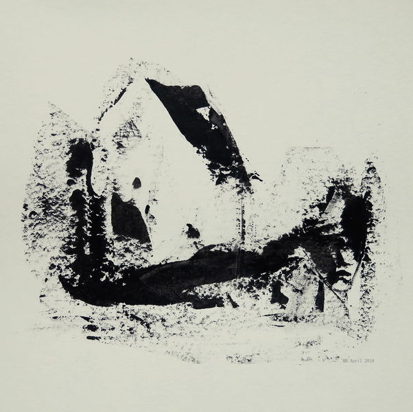 Verlassen, Ruine, Leer, Gesicht, Haus, Malerei