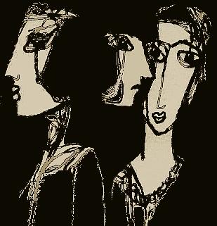 Surreal, Gesicht, Schwarzweiß, Zeichnungen