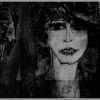 Schwarzweiß, Frau, Allee, Portrait