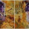 Orange, Violett, Gelb, Malerei