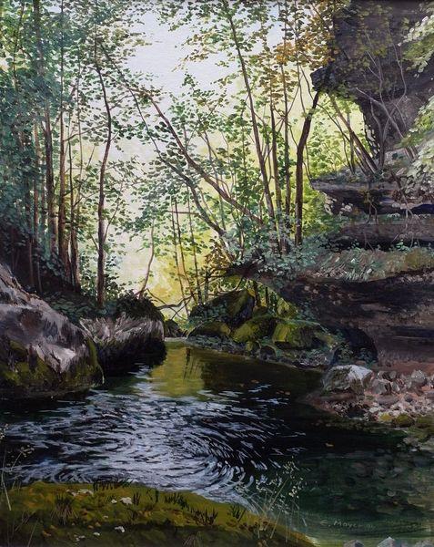 Romantik, Natur, Wasser, Licht und schatten, Malerei