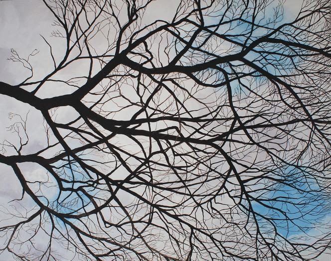 Realismus, Himmel, Stimmung, Baum, Natur, Malerei