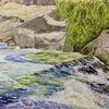 Fluss, Wasser, Stömung, Natur