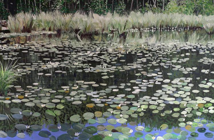 Idylle, Natur, Sonnig, Teich, Romantik, Wasser