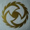 Gold, Blätter, Acrylmalerei, Spachteltechnik