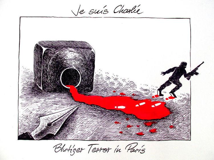 Frankreich, Cartoon, Hebdo, Paris, Karikatur, Zeichnungen