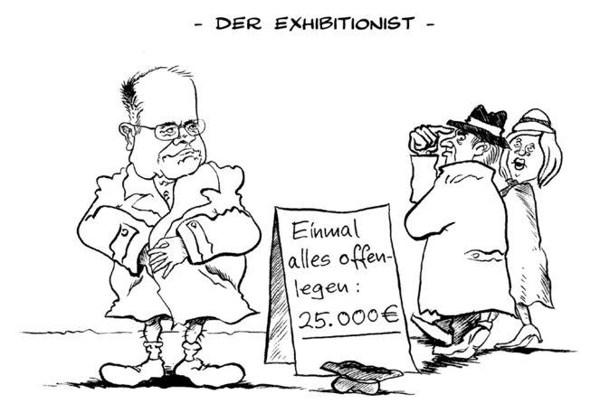 Karikatur, Steinbrück, Cartoon, Spd, Zeichnungen,