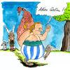 Putin, Depardieu, Karikatur, Cartoon