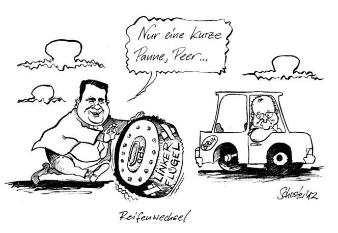 Kanzlerkandidat, Karikatur, Steinbrück, Merkel, Cartoon, Spd