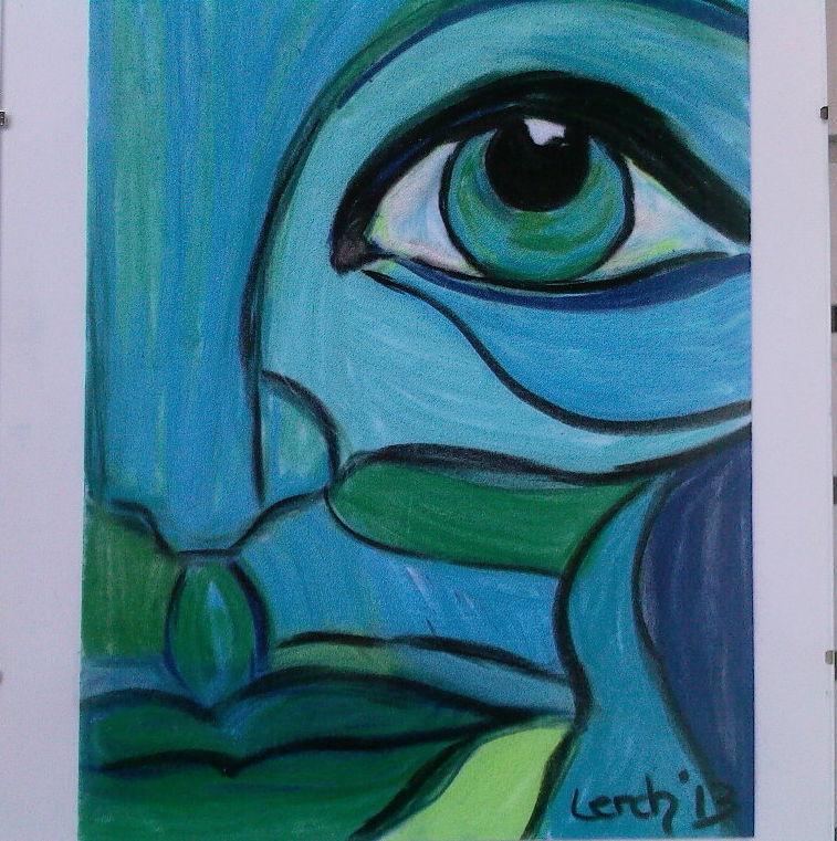 bild  abstrakt blau zeichnungen von uma1011 bei kunstnet
