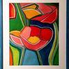 Blumen, Abstrakt, Bunt, Malerei