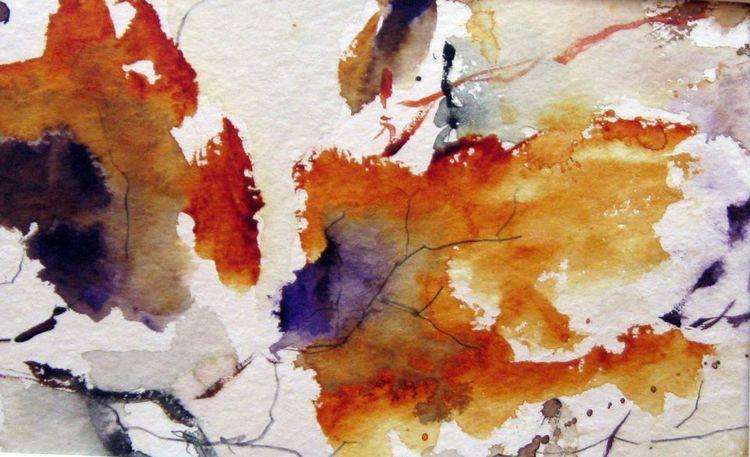 Aquarellmalerei, Nass, Pflanzen, Aquarell