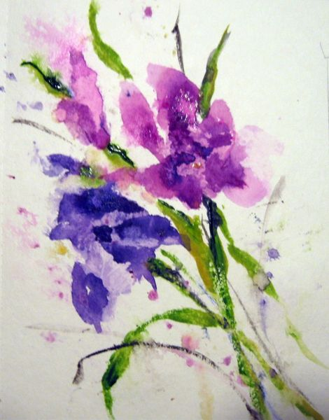 Aquarellmalerei, Blumen, Nass, Aquarell, Flora