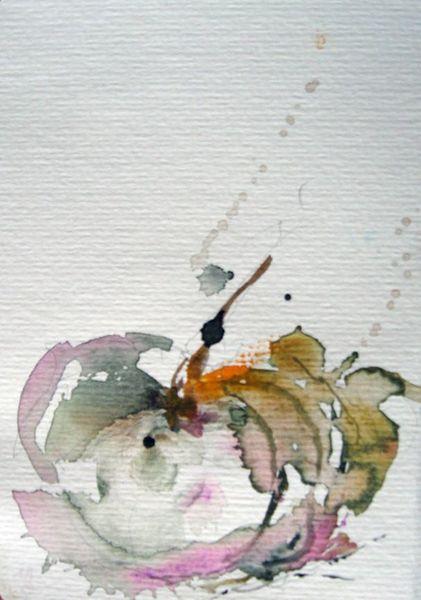 Schicht, Nass, Pflanzen, Aquarellmalerei, Aquarell