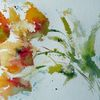 Nass, Skizze, Aquarellmalerei, Blumen