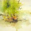 Aquarellmalerei, Landschaft, Nass, Pflanzen