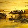 Landschaft, Schicht, Nass, Aquarellmalerei