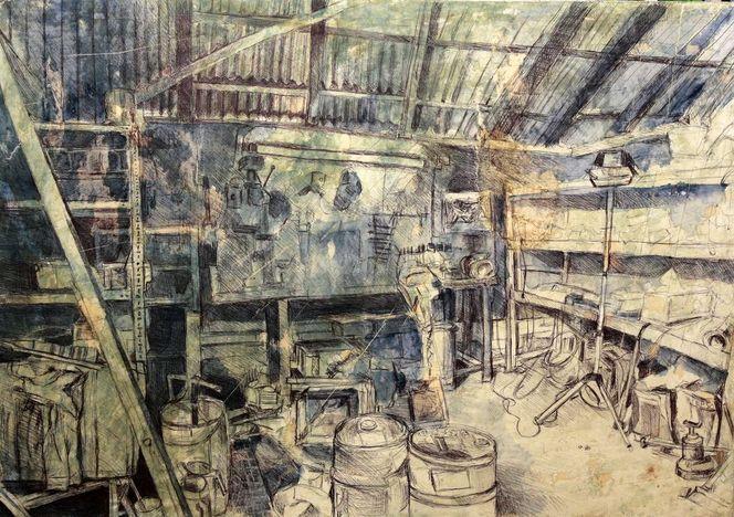 2011, Werkstatt, Henshouse, Kugelschreiber, Malerei, Chaos