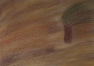 Baum, Sturm, Herbst, Braun, Malerei