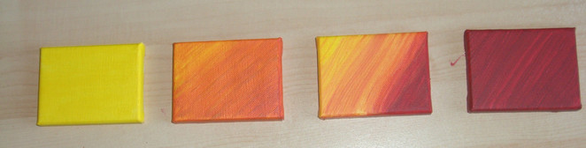 Rot, Orange, Gelb, Farbverlauf, Warm, Malerei