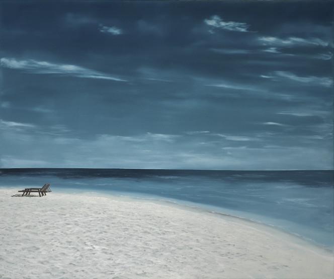 Strand, Wolken, Ölmalerei, Wasser, Himmel, Realismus