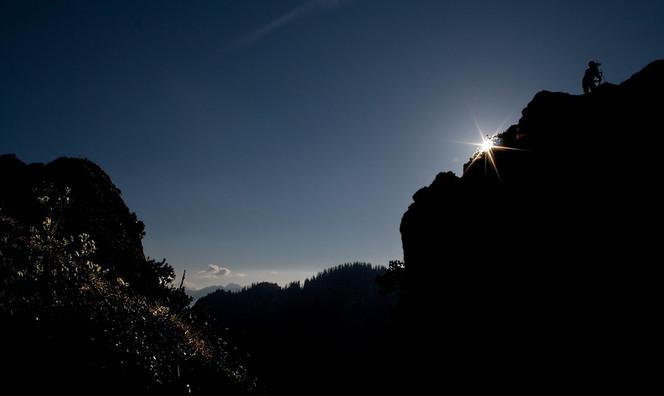 Panorama, Sonne, Ettalermanndl, Fotografie, Menschen