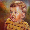 Kind, Portrait, Acrylmalerei, Malerei