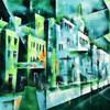 Expressionismus, Abstrakt, Stadt, Moderne malerei
