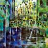 Stadt hamburg, Farben, Häuser, Brücke