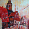 Mainz mainzer dom, Kubiusmus, Acrylmalerei, Kathedrale